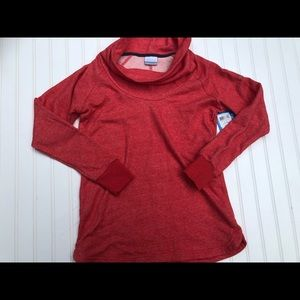Columbia Sea Hill Cow Neck Sweater Red Small NEW!!